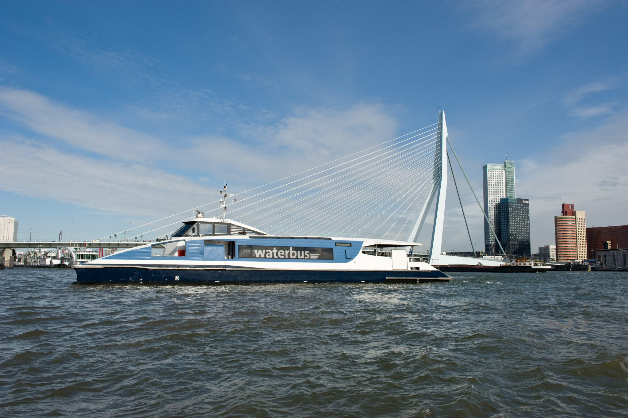 Met de waterbus naar Rotterdam